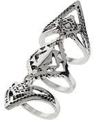 Topshop Aztec Armour Ring - Lyst