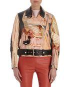 Acne Studios Printed Moto Jacket - Lyst