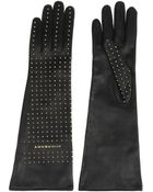 Burberry Studded Leather Gloves - Lyst