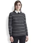 Marni Stripepatterned Wool Cashmereblend Sweater - Lyst