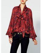 Rachel Zoe Hadley Silk Bishop Sleeve Top - Lyst
