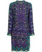 Roberto Cavalli Snakeskin Print Dress - Lyst