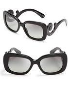 Prada Rectangle Baroque Sunglasses - Lyst