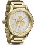 Nixon The 5130 Chrono Watch in Champagne Gold 51mm - Lyst