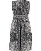 Maje Cosmic Snakeskin-Print Dress - Lyst