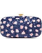 Oscar de la Renta Embroidered Goa Clutch - Lyst