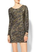 Haute Hippie Caviar Sequin Zebra Dress - Lyst