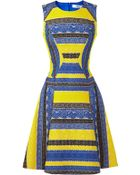Prabal Gurung Embroidered Lace Colorblock Dress - Lyst