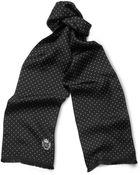 Dolce & Gabbana Swiss Dot Silk Scarf - Lyst