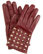Valentino Leather Rock-stud Gloves - Lyst