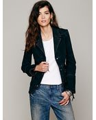 Free People Womens Military Ruffle Twill Jacket - Lyst