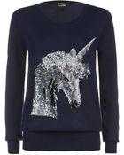 Markus Lupfer Unicorn Sequin Jumper - Lyst
