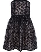 RED Valentino Strapless Lace Dress - Lyst