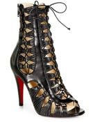 Christian Louboutin Azimut Leather Lace-up Ankle Boots - Lyst