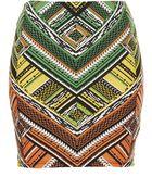 Topshop New Aztec Mini Skirt - Lyst