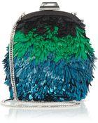 Jimmy Choo Ruby Mini Sequined Leather Shoulder Bag - Lyst