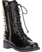 Giuseppe Zanotti Spike Lace-Up Boot - Lyst