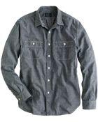 J.Crew Grey Chambray Utility Shirt - Lyst