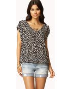Forever 21 Essential Animal Print Top - Lyst