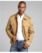 Gucci Camel Cargo Patch Pocketed Button Down Jacket - Lyst