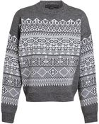 Alexander Wang Fair Isle Wool Knit - Lyst
