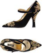 Dolce & Gabbana Wedge Sandals - Lyst