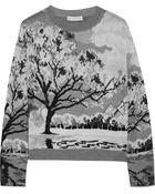 Mary Katrantzou Landscape intarsia Knitted Sweater - Lyst