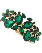 Fragments Emerald Green Stone Bracelet - Lyst