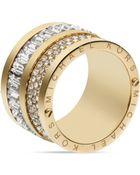 Michael Kors Pave & Baguette Barrel Ring - Lyst