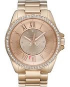 Juicy Couture Women'S Stella Rose Gold Tone Stainless Steel Bracelet 42Mm 1901011 - Lyst
