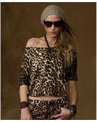 Denim & Supply Ralph Lauren Offtheshoulder Animalprint Jersey Tee - Lyst