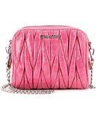 Miu Miu Matelassé Leather Shoulder Bag - Lyst