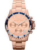Michael Kors Womens Chronograph Rose Goldtone Stainless Steel Bracelet 42mm - Lyst
