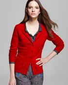 C By Bloomingdale's Cashmere Crewneck Cardigan - Lyst