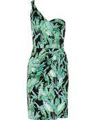 Issa Draped Printed Silk-jersey Dress - Lyst