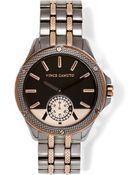 Vince Camuto Textured Bezel Watch - Lyst