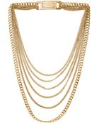 Michael Kors Multi Strand Chain Link Necklace Golden - Lyst