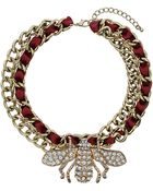 Topshop Bug On Curb Necklace - Lyst
