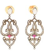 Sabine G 18K Rose Gold, Ruby And Diamond Earrings - Lyst