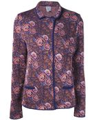 Thierry Colson Floral Pattern Coat - Lyst