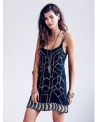 Free People Gauze Sequin Shift Dress - Lyst