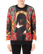 Givenchy Madonna Floral Patch Sweatshirt - Lyst