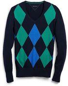 Tommy Hilfiger Multi Color Argyle Sweater - Lyst