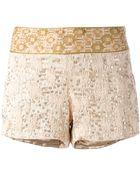 Haute Hippie Embellished Shorts - Lyst