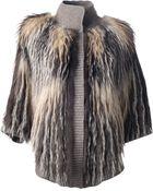 Liska Fox Fur Jacket - Lyst