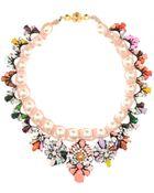 Shourouk Marisa Jumble Embellished Necklace - Lyst