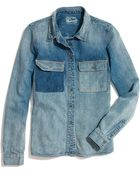 Madewell Rivet Thread Chambray Shirt - Lyst