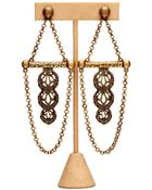 Theodora & Callum Brass Agra Earrings - Lyst