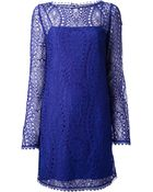 Emilio Pucci Long Sleeve Dress - Lyst