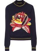 Suno Roseintarsia Merino Wool Sweater - Lyst